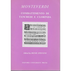 monteverdi - combattimento di tancredi e clorinda for solo voices (soprano, tenor, baritone), string quartet or string orchestra, and keyboard continuo.