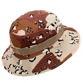d7ae0358 Fishing Hiking Boonie Snap Brim Military Bucket Sun Hat Cap Woodland Camo  New