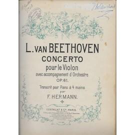l. van beethoven - concerto pour le violon avec accompagnement d'orchestre op. 61 transcrit pour piano à 4 mains