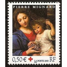 france 2003, très bel exemplaire yvert 3620, au profit de la croix rouge, vierge à la grappe par pierre mignard, neuf** luxe.