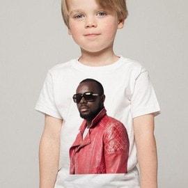 c7cbd5b9820ef T-Shirt Enfant Blanc Fan De... Maître Gims De Profil