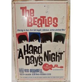 affiche métal the beatles a hard day'night