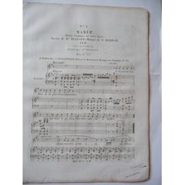 MARIE opéra-comique F.HEROLD n°4 à vos airs de froideur...