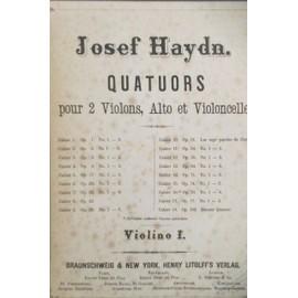 Josef Haydn. QUATUORS pour 2 violons, Alto et Violoncelle. VIOLINO 1 & 2. En 2 tomes.