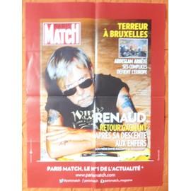 AFFICHE PLIéE FORMAT 80X60 PARIS MATCH RENAUD