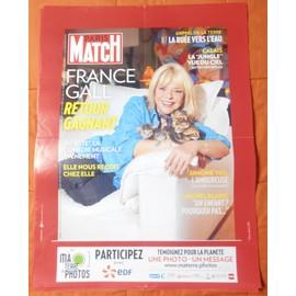 AFFICHE PLIéE FORMAT 80X60 PARIS MATCH FRANCE GALL STALINE