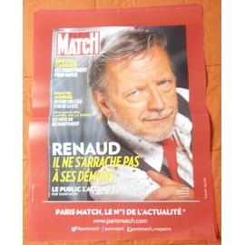 AFFICHE PLIEE FORMAT 80X60 PARIS MATCH RENAUD