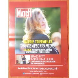 AFFICHE PLIéE FORMAT 80X60 PARIS MATCH VALéRIE TRIERWEILER BRAT PITT ANGELINA JOLIE