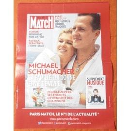 AFFICHE PLIéE FORMAT 80X60 PARIS MATCH MICHAEL SCHUMACHER