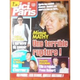AFFICHE PLIéE FORMAT 80X60 ICI PARIS MIMIE MATHY JAMEL CRISTINA CORDULA DANIèLE DELORME