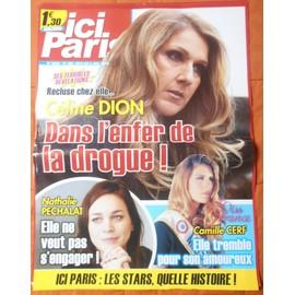 AFFICHE PLIéE FORMAT 80X60 ICI PARIS CéLINE DION CAMILLE CERF NATHALIE PECHALAT