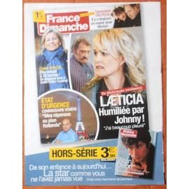 AFFICHE PLIéE FORMAT 80X60 FRANCE DIMANCHE JOHNNY HALLYDAY ALAIN DELON MICHEL DELPECHE