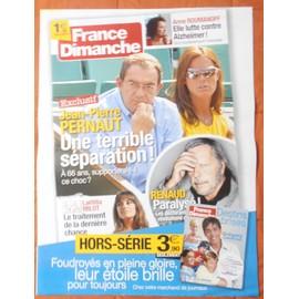AFFICHE PLIéE FORMAT 80X60 FRANCE DIMANCHE RENAUD ROMY SCHNEIDER GRéGORY LEMARCHAL JP PERNAUT RARE