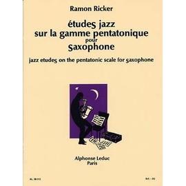 études jazz sur la gamme pentatonique pour saxophone