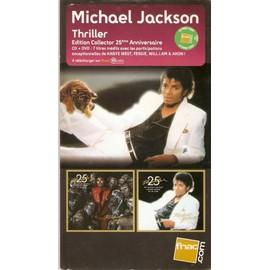 PLV 14x25cm cartonnée rigide MICHAEL JACKSON thriller 25e anniversaire / magasins FNAC