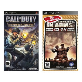 Brothers in Arms D DAY + Call of duty les chemins de la gloire pour console de jeu PSP playstation portable d'occasion  Livré partout en France