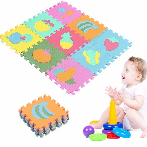10pcs fruit mousse eva puzzle souple tapis de sol jeux ramper pour b b enfant. Black Bedroom Furniture Sets. Home Design Ideas