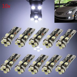 10x w5w t10 smd 8 led ampoule voiture lampe lumi re 194 168 501 veilleuse 3528 canbus anti. Black Bedroom Furniture Sets. Home Design Ideas