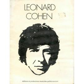 LEONARD COHEN- PARTITIONS - 1971 ENVIRON - textes et photos en noir et blanc