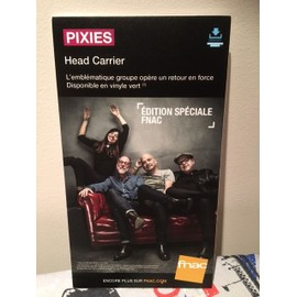 PIXIES HEAD CARRIER PLV FNAC FORMAT CARTON RIGIDE 2016