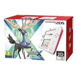 Image Console Nintendo 2ds Blanc / Rouge + Pokemon X Console Nintendo 2ds + Carte Mémoire Sdhc 4 Go + Adaptateur Secteur + Pokemon X