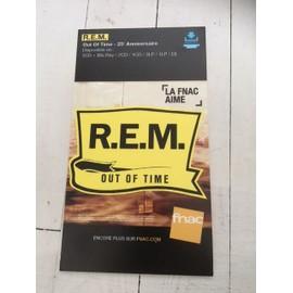 R.E.M Out of time 25é anniversaire PLV FNAC CARTON RIGIDE 2016