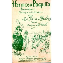 """PARTITION PASO DOBLE """"la java des poulbots"""" G. MARIEL /HERMOSA PAQUITA."""