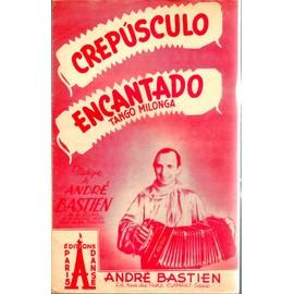 """PARTITION 2 TANGOS BANDONEON - """"crepusculo"""" """"encantado"""" ANDRE BASTIEN."""