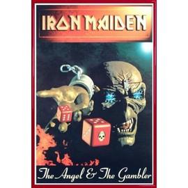 Poster encadré: Iron Maiden - Angel & Gambler (91x61 cm), Cadre Plastique, Rouge
