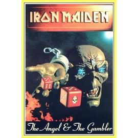 Poster encadré: Iron Maiden - Angel & Gambler (91x61 cm), Cadre Plastique, Jaune