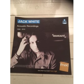 jack white aCOUSTIC rECORDINGS RARE PLV FNAC PAPIER EPAIS FORMAT 33 T