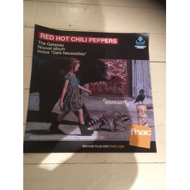 RED HOT CHILI PEPPERS THE GETAWAY PLV FNAC FORMAT 33 T PAPIER EPAIS 2016