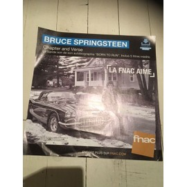 BRUCE SPRINGSTEEN CHAPTER AND VERSE PLV FNAC 2016 FORMAT 33 T PAPIER EPAIS
