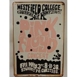 affiche metal pink floyd