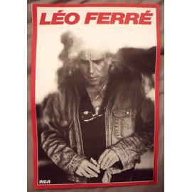 Léo Férré Affiche de concert 40x60