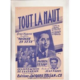 """Tout là haut du film """"musique en tête"""" par Jacques Hélian ou les compagnons de la chanson ou jean marco"""