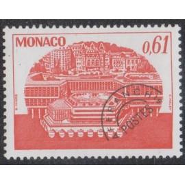 Timbre de monaco N°P.R.54 Y&T 61 c. rouge centre de congrès
