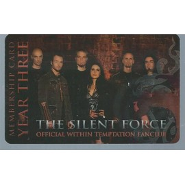 the silent force : official within temptation fan club : membership card year three