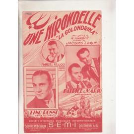 "Une Hirondelle ""la golondrina"" par Tino Rossi ou Patrice & Mario ou Marcel Feijoo"