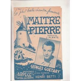 Maitre Pierre par Georges Guétary