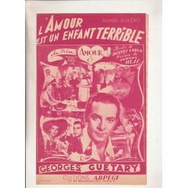 """l'amour est un enfant terrible du film """"amour & cie"""" par Georges Guétary"""