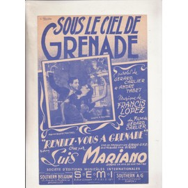 """sous le ciel de grenade du film """"rendez-vous à grenade"""" créé par LUIS MARIANO"""