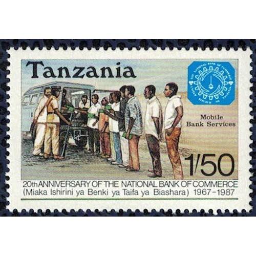 Tanzanie 1987 neuf service bancaire mobile banque nationale du commerce su bbfa6f4dc4c
