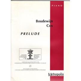 PRELUDE (Boudewijn Cox) oeuvre imposée au concours musical international Reine Elisabeth de Belgique