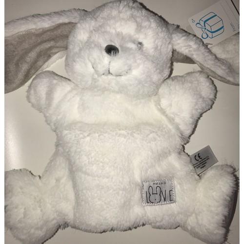 73e12dea50f Doudou lapin blanc gris marionnette <strong>simba</strong> <strong>