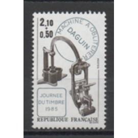 France 1985: Timbre N° 2362 pour la journée du timbre.
