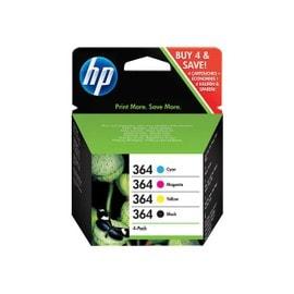 HP 364 Combo Pack (SD534EE) - Cartouches noir, jaune, cyan, magenta - original - pour Deskjet 35XX; Photosmart 55XX, 55XX B111, 65XX, 65XX B211, 7510 C311, 7520, eStation... d'occasion  Livré partout en France