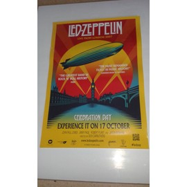 Affiche officielle Led Zeppelin Celebration Day