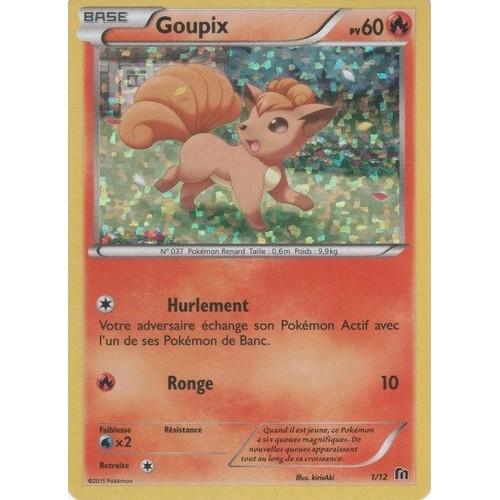 carte Pok/émon 68//95 Goupix 60 PV