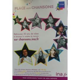 Carte postale Ina Sheila Joe Dassin Françoise Hardy Brassens Brel Souchon Adamo Trenet Sardou